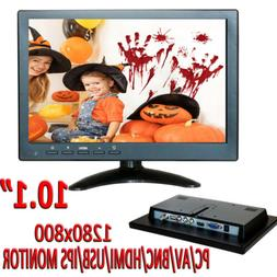 """10.1"""" 1080P LCD Monitor with HDMI/BNC/AV/VGA Input For Secur"""