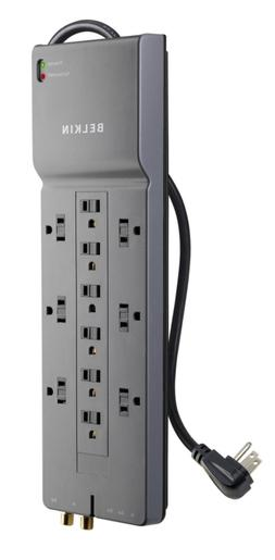 Belkin 12- Power Strip Surge Protector w/ 8ft Cord – Ideal