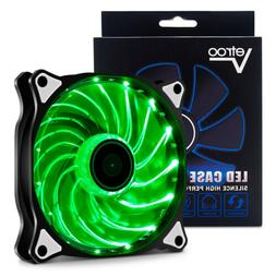 120mm Green Vetroo LED Computer PC Case Cooling Fan Sleeve B