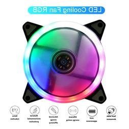 120mm White LED Cooling Fan 12V 4Pin to 3Pin RGB Computer Ca