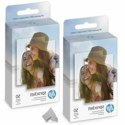 2 Pack of 50 HP Sprocket Photo Paper, 100 Sheets f/ HP Sproc