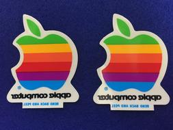 "2 X NEW Vintage Apple Computer Rainbow Logo 2"" from 1988"