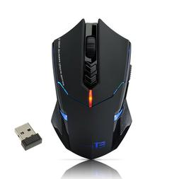 2400 DPI Computer 7 Button Wireless Gaming Mouse LED Optical