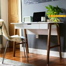 Nathan James 51101 Telos Home Office Computer Desk With Draw