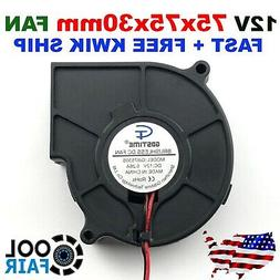 75mm 12V Blower Fan 7530 75 x 30mm Computer Cooling Exhaust