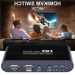 AM-KM408 HDMI Computer USB Mouse Keyboard Display 2 In 1Out