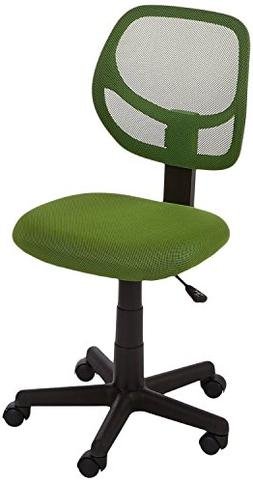 AmazonBasics Low-Back Computer Chair - Green FREE SHIPPING