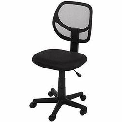 Basics Low-Back Computer Task/Desk Chair With Swivel Casters