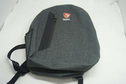 brand new charcoal gray padded gaming backpack
