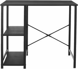 AmazonBasics Classic, Home Office Computer Desk With Shelves