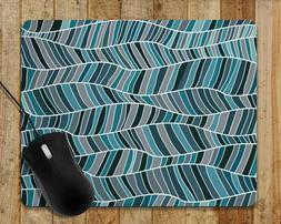 Computer Gaming Mouse Pad MORE COLORS Modern Design Wavy Lin