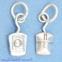 Computer PC Laptop Mouse 3D 925 Solid Sterling Silver Charm
