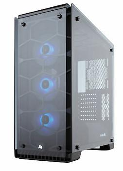 Corsair Crystal 570X Midi-Tower Black,Transparent computer c