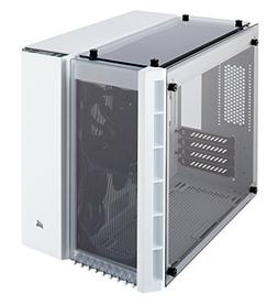 CORSAIR CRYSTAL 280X Micro-ATX Case, Tempered Glass - White