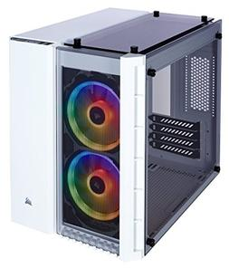 CORSAIR Crystal 280X RGB Micro-ATX Case, 2 RGB Fans, Lightin