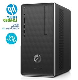 HP Desktop Computer 8GB 1TB Windows 10 WiFi DVD+RW HDMI Blue