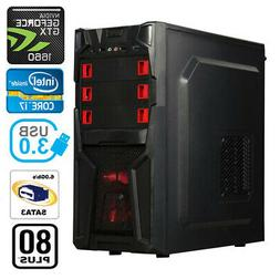 Gaming PC Desktop Computer RGB Intel i5 3.4 Ghz, GTX 1060, 1
