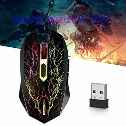 Gaming Wired Mouse 2400DPI USB Optical RGB Flowing Light Mic