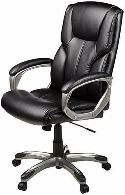 High-Back Executive Swivel Office Computer Desk Chair - Blac