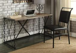 Industrial Chain Design Computer Desk Writing Rustic Weather