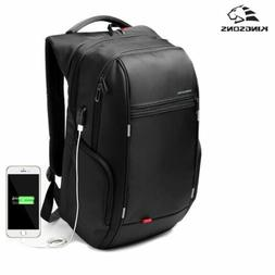 kingsons Men USB Charge Computer Bag Anti-theft Notebook Bac