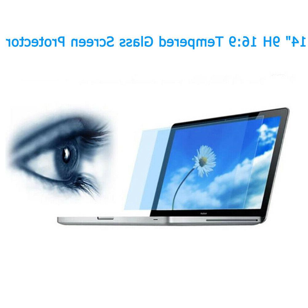 """14"""" 16:9 Glass Screen Protector HP DELL Touch-Screen"""