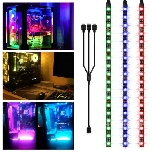 3PCS 30cm RGB Gaming LED Computer Case Strip Light for Asus