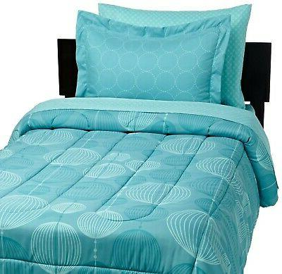 Brand AmazonBasics 5-Piece Bed-In-A-Bag, XL, Industrial Teal