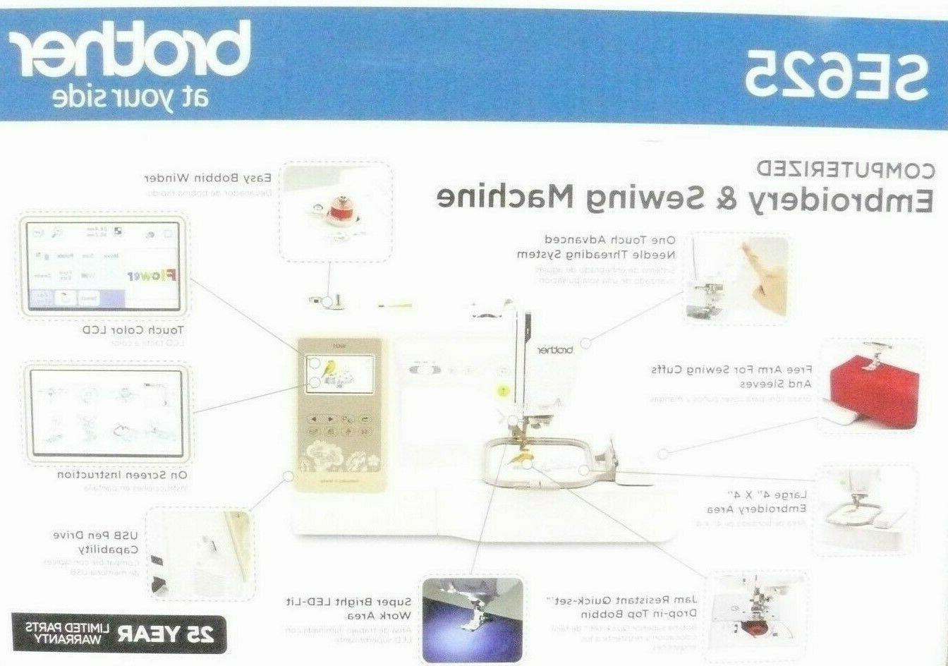 brand new sealed se625 computerized sewing