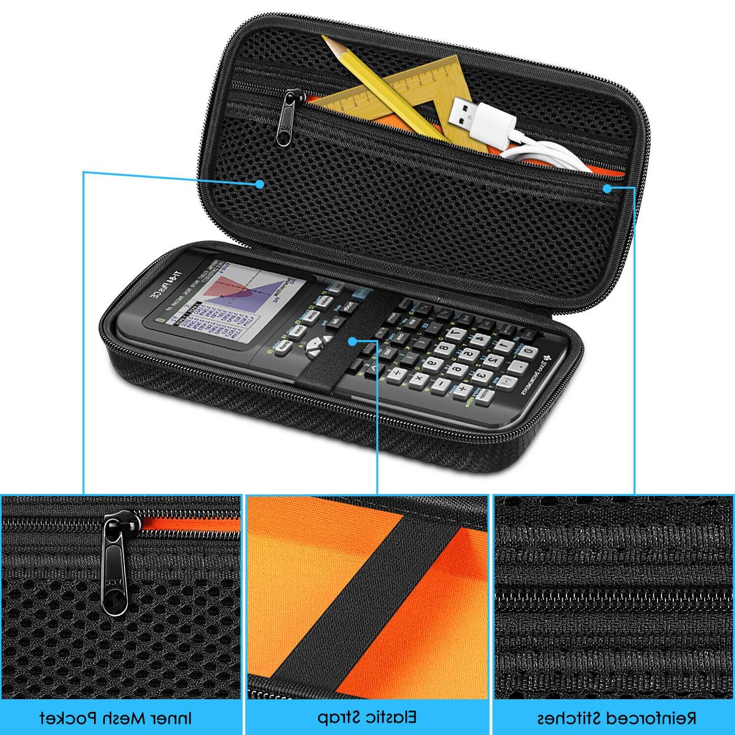 Graphing Calculator Carrying EVA Hard Case Instruments Plus