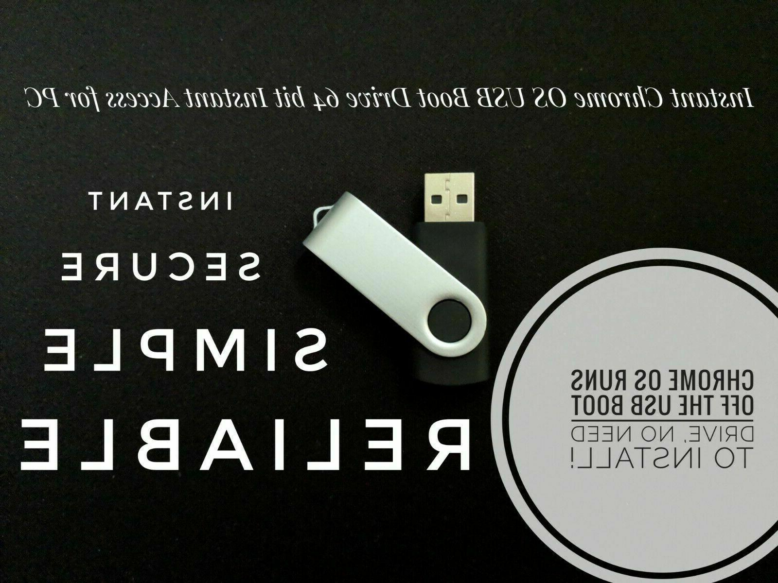 instant chrome os 8gb usb boot drive