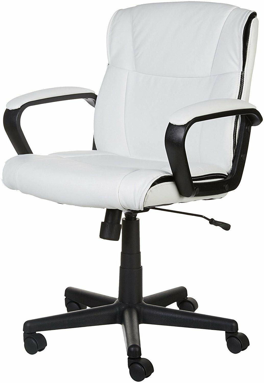 mid back office chair white