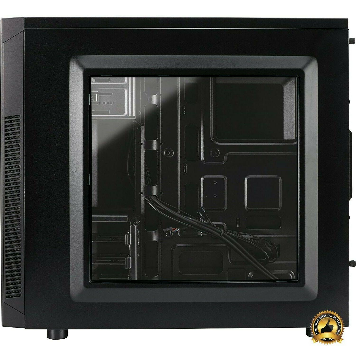 mid tower gaming computer case pc black