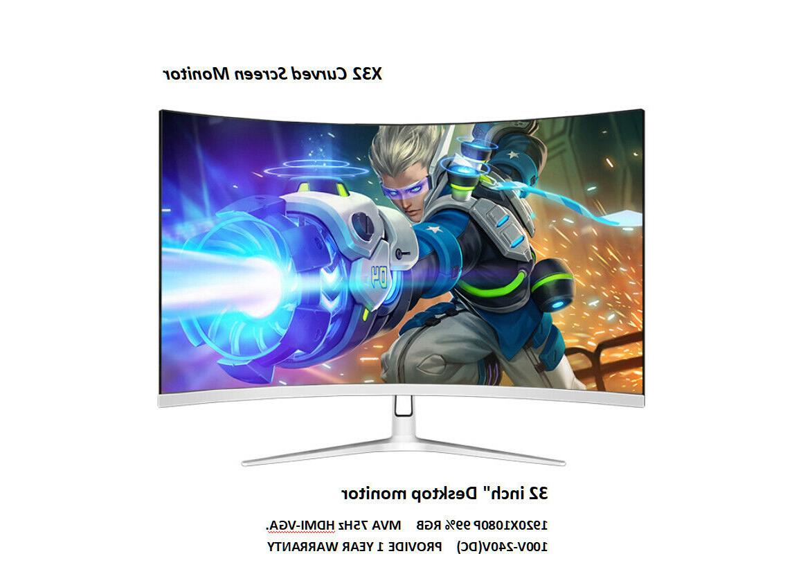 new curved 32 inch 75hz gaming pc