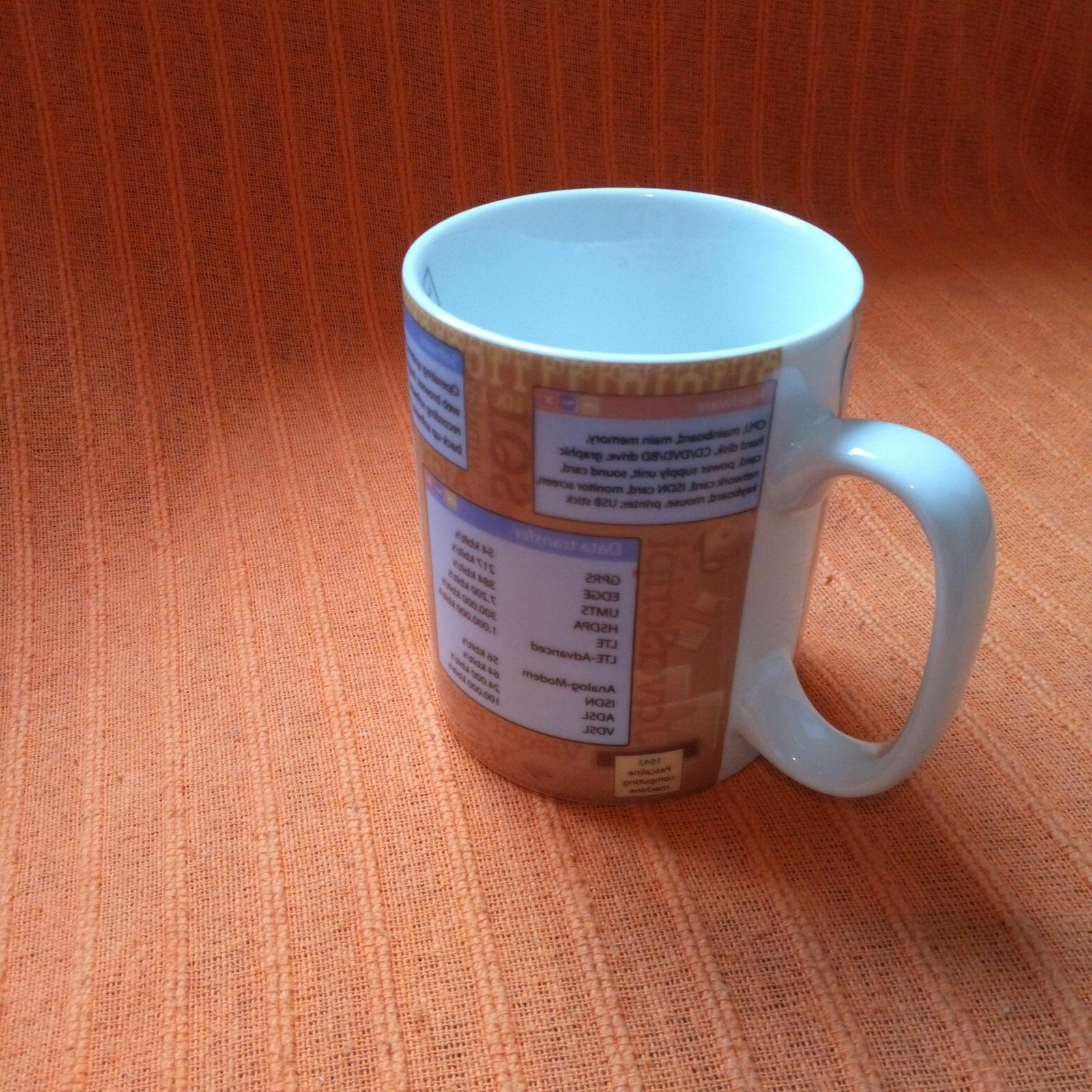 Porcelain Coffee Mug Science 460ml