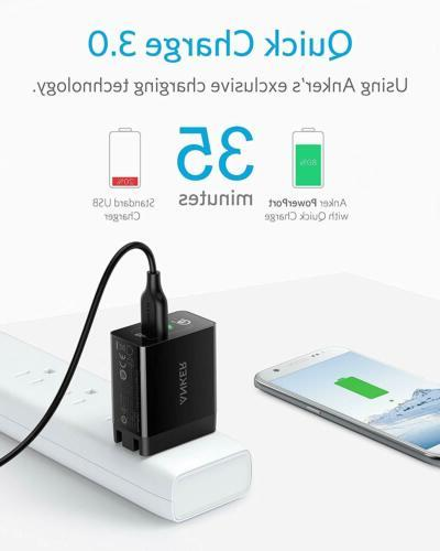 Quick 3.0, 18W 3Amp USB Charger Compatible