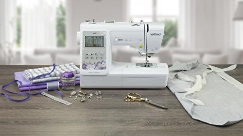 """Brother SE600, Computerized and Embroidery Machine 4"""" 4"""" Area, 80 Embroidery Built-In Sewing Stitches,"""