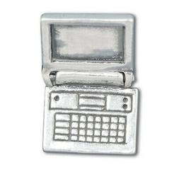 Laptop Computer Notebook Movable 3D 925 Solid Sterling Silve