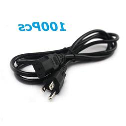Lot of 100PCS  3 Prong 6ft Power Cord Cable for PC Monitoer