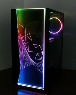 NEW RGB Quad Core Gaming PC Desktop Computer 4.2 GHz 500 8GB