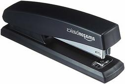 AmazonBasics Office Stapler with 1000 Staples - Black, 12-Pa