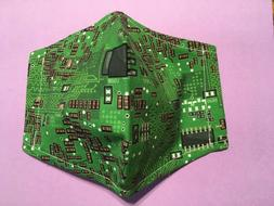 Science and technology Circuit Board / Computer face mask