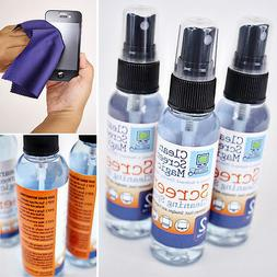 Screen Cleaner Kit- 3 Pack & Microfiber Cloth for Cell Phone