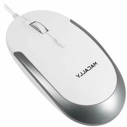 Macally Silent Usb Mouse Wired For Apple Mac Or Windows Pc L