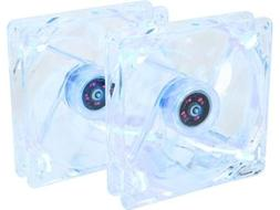 120mm Case Fan with Blue LED 2-Pack Computer Case Fan with L
