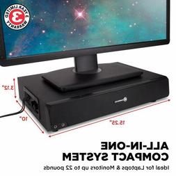 GOgroove USB Computer Speaker&Monitor Stand Sound Base with