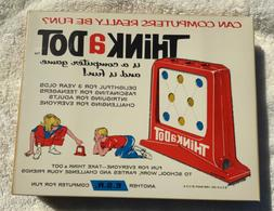 VIntage 1965 THINK A DOT Computer Game, 1960s Toy ESR,