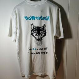 Vintage Technology T-Shirt Mens XL White 90s T wolf  Compute