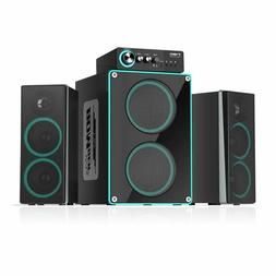 ineo Wooden 2.1 Gaming/PC Speakers with Subwoofers and Indiv